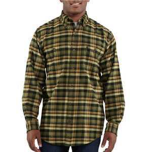 Carhartt 100124-301 Large Black Trumbull Plaid Long Sleeve Shirt