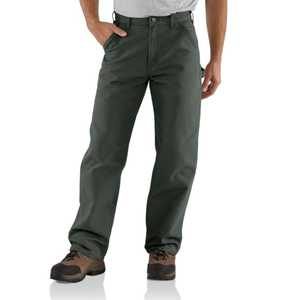 Carhartt B11MOS 40-inch x 34-inch Moss Washed Duck Work Dungaree