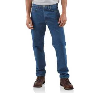 Carhartt B18-DST 44x32 Men's Straight/Traditional-Fit Tapered-Leg Jean