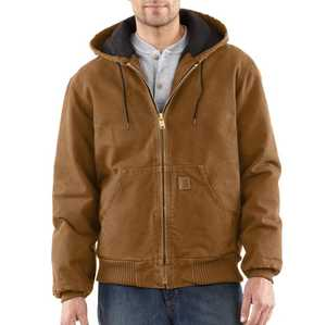 Carhartt J130-BRN Medium Brown Sandstone Duck Active Jacket