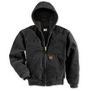 Carhartt J280-BLK Medium Black Hooded Active Work Jacket