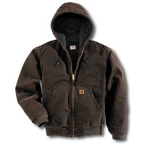 Carhartt J280-DKB 2x-Large Dark Brown Hooded Active Work Jacket