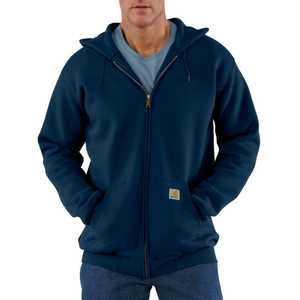 Carhartt K122NVY Large Navy Midweight Hooded Zip-Front Sweatshirt