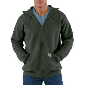 Carhartt K122OLV Large Olive Midweight Hooded Zip-Front Sweatshirt