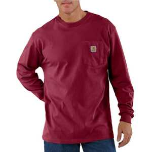 Carhartt K126DKR Mens Long Sleeve Workwear Pocket T Shirt