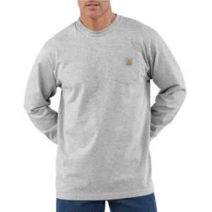 Carhartt K126HGY Mens Long Sleeve Workwear Pocket T Shirt