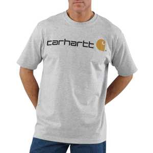 Carhartt K195HGY X-Large Heather Gray Short Sleeve Logo T-Shirt