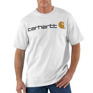 Carhartt K195WHT 2X-Large White Short Sleeve Logo T-Shirt