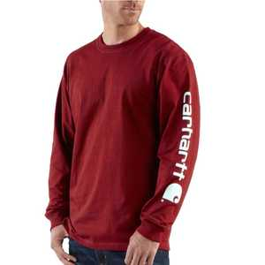 Carhartt K231DKR Mens Long Sleeve Logo T Shirt