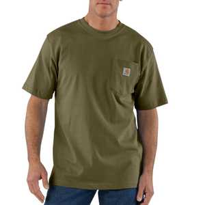 Carhartt K87ARG X-Large Army Green Workwear Pocket T-Shirt
