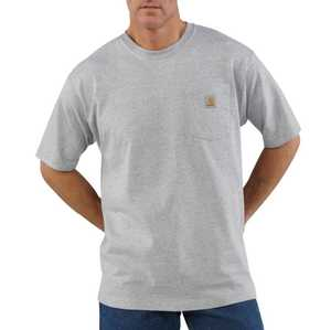 Carhartt K87-HGY Small Heather Gray Workwear Pocket T-Shirt
