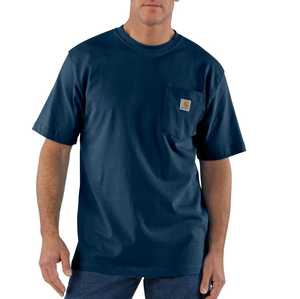 Carhartt K87-NVY Large Navy Workwear Pocket T-Shirt