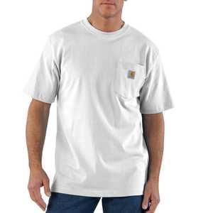 Carhartt K87WHT Mens Workwear Pocket T Shirt Mr