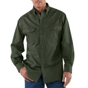 Carhartt S09MOS Small Moss Sandstone Twill Shirt