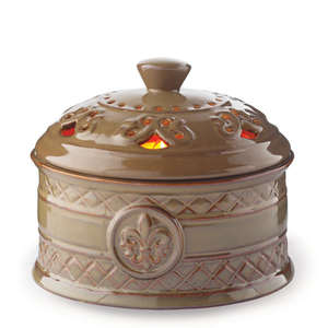 Candle Warmers Etc. WCFDL Chestnut Brown Fleur De Lis Aire Candle Warmer