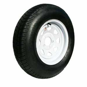 Carry-On Trailers 20514 14 in Tire With White Spoke Wheel St205-75d14