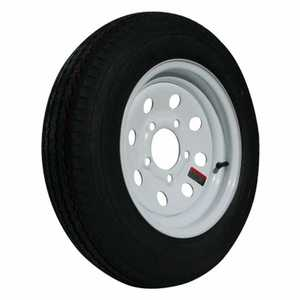 Carry-On Trailers 48012 12 in Tire With White Mod Wheel 4.80x12