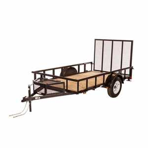 Carry-On Trailers 5.5X10GWPT 5.5 ft X 10 ft Wood Floor Trailer With Mesh Tongue Box