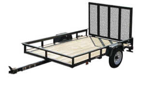 Carry-On Trailers 4X8GW2K 4 ft X 8 ft Wood Floor Trailer