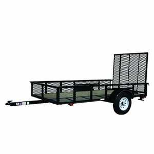 Carry-On Trailers 5X8GWHS2K 5 ft X 8 ft Wood Floor Trailer With Mesh High Sides