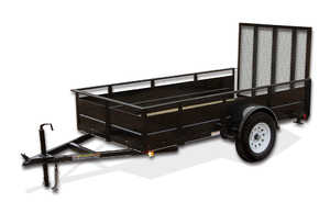 Carry-On Trailers 5X10SSG 5 ft X 10 ft Wood Floor Trailer With Solid Sides