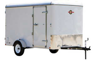Carry-On Trailers 6X12CG 6 ft X 12 ft Enclosed Trailer With Single Axle