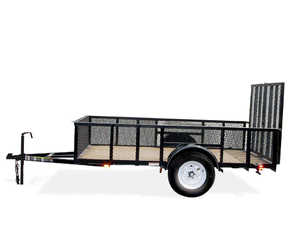 Carry-On Trailers 5X10GWHS 5 ft X 10 ft Wood Floor Trailer With Mesh High Sides