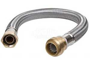 Cash Acme U3088FLEX18LF Sharkbite Water Heater Connector 18 in S/S Flex