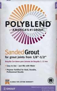 CUSTOM BUILDING PBG54425 Polyblend Grout Sanded Rolling Fog 25lb