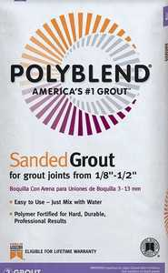 Custom Building Products PBG5417-4 Polyblend Sanded Grout Walnut 7lb