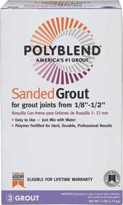 Custom Building Products PBG5447-4 Polyblend Grout Sanded Rolling Fog 7lb