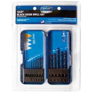 Century Drill & Tool 24713 13-Piece Black Oxide Drill Set
