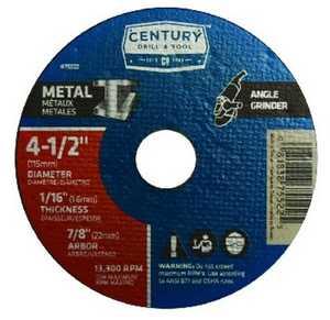 Century Drill & Tool 08307 4 in Type 1A Thin Metal Cutting Wheel