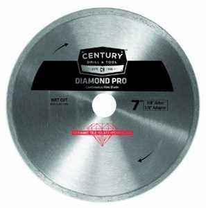 Century Drill & Tool 75458 7 in Continuous Rim Diamond Pro Saw Blade