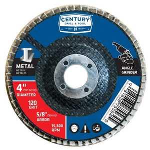 Century Drill & Tool 75564 4 in Zirconia Flap Sanding Disc 120 Grit