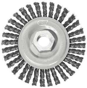 Century Drill & Tool 76041 4 in Stringer Bead Angle Grinder Wire Wheel, Coarse