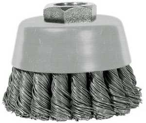 Century Drill & Tool 76046 4 in Knotted Angle Grinder Cup Brush, Coarse