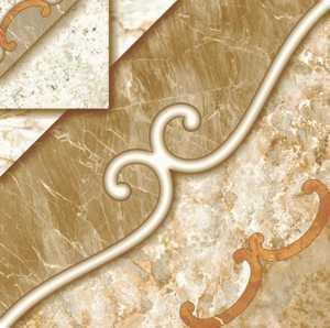 Ceramica San Lorenzo INK JET PATTERN Valentina Cognac 18x18 in Tile