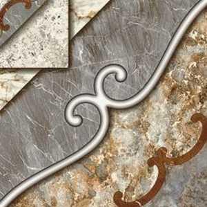 Ceramica San Lorenzo INK JET PATTERN Valentina Champagne 18x18 in Tile