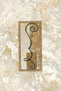 Ceramica San Lorenzo WALL TILE Brescia Avorio Deco Givenchi 8x12 In Tile Per Piece