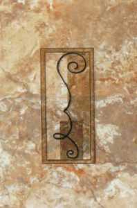 Ceramica San Lorenzo WALL TILE Brescia Giallo Deco Givenchi 8x12 In Tile Per Piece
