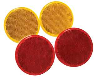 Reese Towpower 73817 Quick Mount Round Reflex Reflectors, Amber