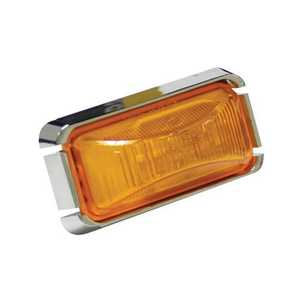 Reese Towpower 73839 Rectangular Clearance Sealed Light Kit, Amber