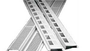 Air Vent Ventilation 84302 Continuous Soffit Vent 8 Ft Retrofit White
