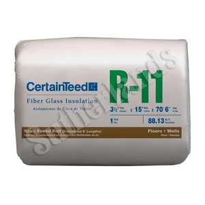 Certainteed 910075 Insulation R11 Kraft-Faced Roll 3-1/2x15