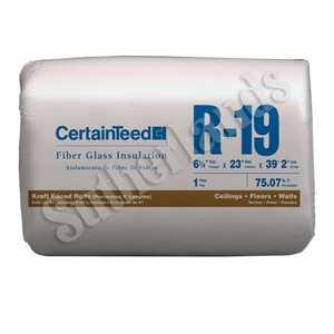 Certainteed 990115 Insulation R19 Kraft-Faced Roll 6-1/4x23