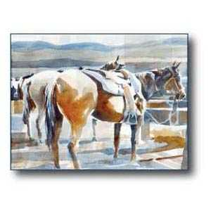 Debra Sutherland 24 in x 18 in Asleep At The Rail Print