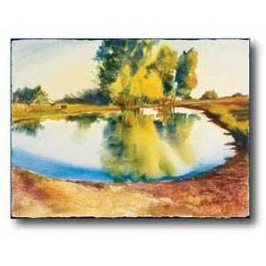 Debra Sutherland 28 in x 22 in Rural Reflections Watercolor Print