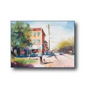 Debra Sutherland 18 in x 14 in Corner Store Watercolor Print