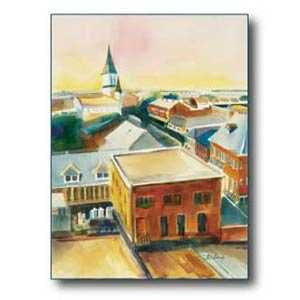 Debra Sutherland 22 in x 28 in Old Town Morning Watercolor Print